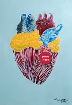 cardiac-art:  SUBMISSION: Vital Loredelo 42cm x 29cm 2012 acrylic and collage on paper
