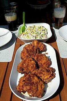 Rántott csirkecomb, francia saláta Tandoori Chicken, Food And Drink, Condensed Milk, Ethnic Recipes, France, Evaporated Milk