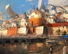 ArtStation - seaside town, J.C Park
