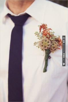 pink and peach groomsmen boutonniere captured by Wildflowers Photography | CHECK OUT MORE IDEAS AT WEDDINGPINS.NET | #bridesmaids