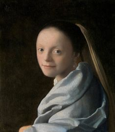 Study of a Young Woman Johannes Vermeer (Dutch, Delft Delft) Date: ca. Medium: Oil on canvas Dimensions: 17 x 15 in. x 40 cm) The Metropolitan Museum of Art Johannes Vermeer, Rembrandt, Delft, Metropolitan Museum, Theodore Rousseau, Vermeer Paintings, Vermeer Artwork, Canvas Paintings, Dutch Golden Age