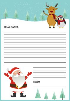 Free Christmas Holiday Letter Templates Printable  Google Search