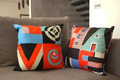 The Love / Hate Double Sided Word Art Cushion - Smart Deco Style