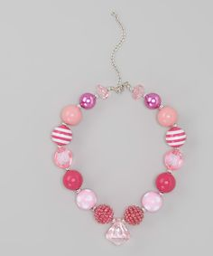 Take a look at the Hot Pink Necklace on #zulily today!