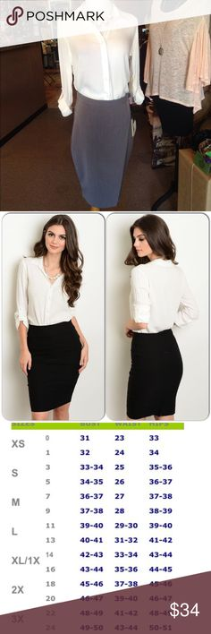 White Career Top This awesome top features roll up button sleeves and front button closure with collar. Great addition to your fall/winter wardrobe. 100% Rayon (This closet does not trade or use PayPal) Have Tops Button Down Shirts
