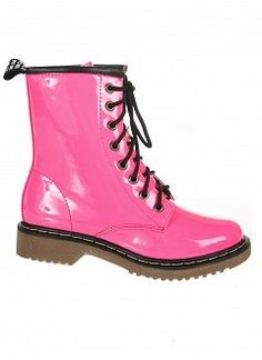 Image of Hot Pink Combat Boots