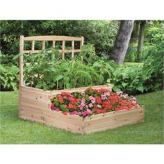 Charmant Cedar 2 Tier Raised Garden Bed With Trellis Sturdy Planter Box LIMITED  QUANTITY