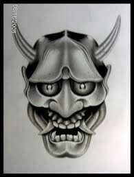 Japanese Hannya Mask, Skull, Tattoos, Fictional Characters, Art, Art Background, Tatuajes, Tattoo, Kunst