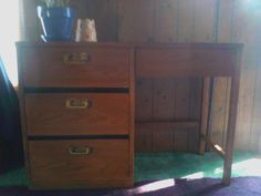 4drawer vintage desk in unemployed's Garage Sale in New carlisle , IN for $60.00. Cash & carry,  no shipping