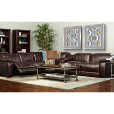 e motion furniture james power reclining sectional - Leather Sectional Couch With Recliner