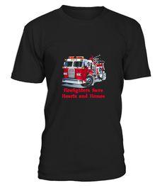 Firefighter   Fire Department Truck Tee Fireman Gift