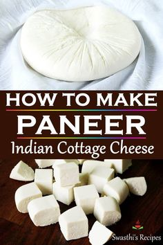How to make paneer, the easiest cottage cheese using only 2 ingredients. Make it just under 30 mins. Homemade paneer is fresh & soft without additives. Super easy to make! Homemade Paneer Recipe, Paneer Recipes, Homemade Cheese, Milk Recipes, Cheese Recipes, Indian Food Recipes, Cooking Recipes, Diabetic Recipes, Healthy Recipes