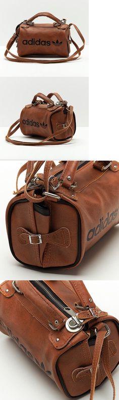 f9fff4e953 Bags Handbags and Cases 74962  Adidas Original Arch Bag Pu Leather Faux  Vintage Slingbag Brown
