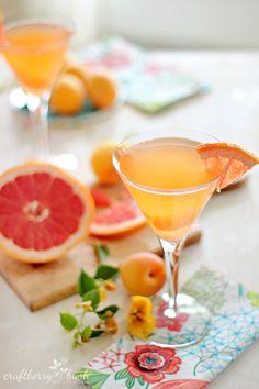 Pink Grapefruit Apricot Martini