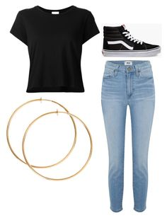 """""""Untitled #25"""" by alaninaissant on Polyvore featuring RE/DONE, Paige Denim and Vans"""