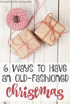 See 6 ways to slow down and have an old-fashioned Christmas including making your own gifts and using natural decorations on gracefullittlehon.