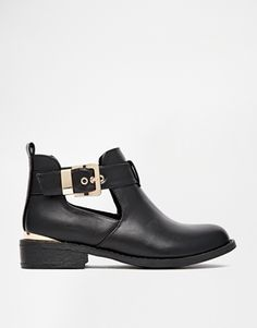 Enlarge River Island Jeanie Cut Out Flat Boots