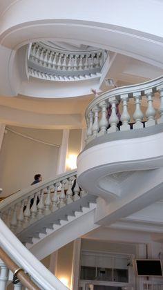 Helsingin eläintieteellisen museon portaikon upea näkymä.