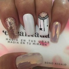 Manicure Nail Designs, Nail Manicure, Nail Art Designs, Black Manicure, Stylish Nails, Trendy Nails, White Nails, Pink Nails, Love Nails