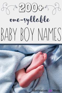 This list has over 200 ideas for one syllable boy names that are short and sweet and easy to fall in love with. Some of these are common baby boy names, and some of these are unique baby boy names. Whether you are looking for nicknames, or middle names, or just first names for your baby boy, this list will give you plenty of ideas for baby boy names!