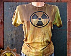 Made to Order a Womens One of a Kind Radioactive Yellow Dirty and Distressed Wasteland T-Shirt