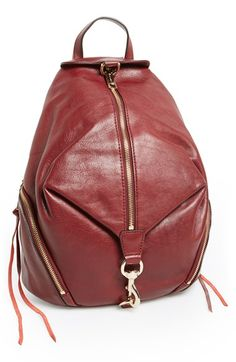 Rebecca Minkoff 'Julian' Glazed Leather Backpack available at #Nordstrom