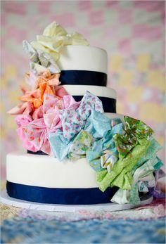 bow tie wedding cake