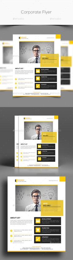 Corporate Flyer Template. Download: http://graphicriver.net/item/corporate-flyer-/11127202?ref=ksioks