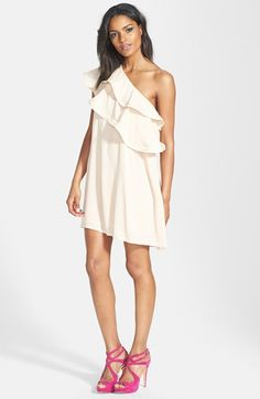 Dirty Ballerina Ruffle One-Shoulder Dress available at #Nordstrom