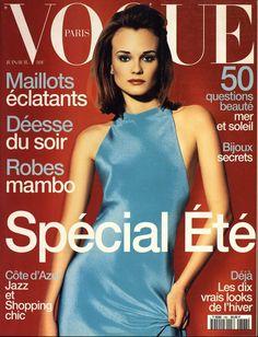 Diane Kruger by Raymond Meier Vogue Paris June July 1996