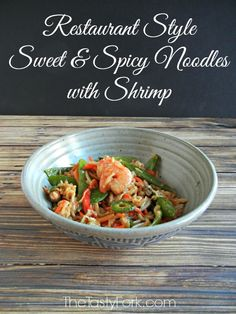 Easy Pad Thai Noodle Recipe - Restaurant Style Sweet & Spicy Noodles with Shrimp. Made with Gluten Free Noodles.