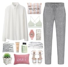 """Oui"" by omgjailah ❤ liked on Polyvore featuring Uniqlo, Wildfox, Zara, Nixon, Laura Mercier, Base Range, Maison de Vacances, Brinkhaus and philosophy"