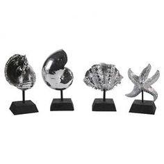 4-Piece Seashell Decor Set