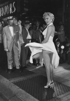 Iconic Marilyn Monroe Subway Scene Captured in New Color Footage   Variety