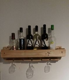 DIY Pallet Wine and Liquor Rack | Penniless Parenting