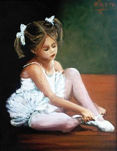 Bailarina Painting by Natalia Tejera - Bailarina Fine Art Prints and Posters for Sale