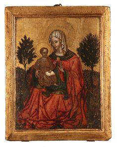 Maestro del Trittico di Imola, Madonna dell'Umiltà con Bambino Benedicente, tempera su tavola, anni venti del XV secolo