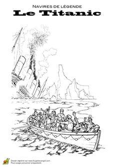 55 meilleures images du tableau coloriages de bateaux party boats ship et coloring pages - Dessin du titanic ...