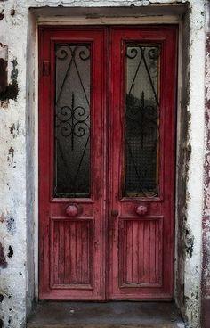 Red door in Burano Italy Cool Doors, Unique Doors, Porches, Doors Galore, Labyrinth, Cottage Garden Design, Knobs And Knockers, Windows And Doors, Red Doors