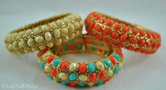 Beautiful bangles in turquoise~coral~cream~<3