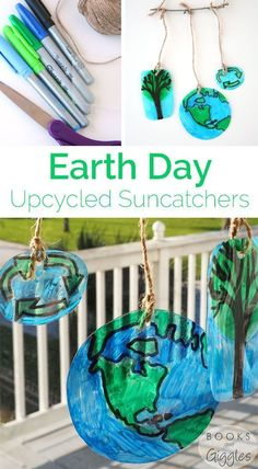 Earth Day crafts for kids   How to make suncatchers out of upcycled plastic