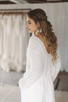 Pullover, Lace, Sweaters, Wedding, Shopping, Dresses, Fashion, Bridle Dress, Long Sleeve