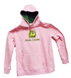 John Deere Glitter Logo Women's Sweatshirt Pink: Amazon.com: Clothing