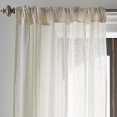 Semi-sheer window panel with an airy, open weave. cotton / linen curtain featuring construction with rod pockets and back tabs. 50 in. The Company Store Sheer Linen Curtains, Sheer Curtain Panels, Cotton Curtains, Window Panels, Panel Curtains, Curtain Store, Curtain Hardware, The Company Store, Beds For Sale
