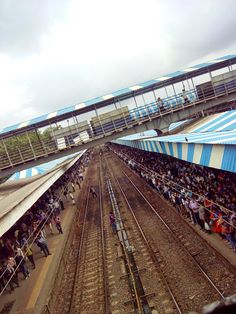 The Crowd and Busy life of Mumbai Locals.