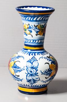 Small hand painted vase, breton style. by SoFrenchBrocante on Etsy.