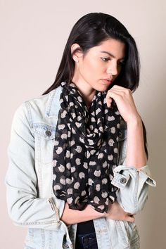 Women's Cute Meow Meow Black Cat Scarf. Fashion Shawl.Fashionable Scarves, multicolor scarf, wool shawls, pashmina shawls, sarong wraps, cute, pretty, unique scarves, affordable, versatile shawls, designer scarves, hand-printed, stylish, modern, trendy, super soft, best value, great deals, boho chic, hippie style, infinity circle loop shawls, sexy cute infinity scarves, stripes, animal prints,