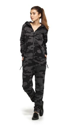 We've taken our classic Camouflage Jumpsuit and made it darker. Way darker. Perfect for late night Navy Seals activities. Teen Fashion Outfits, Girl Outfits, Camouflage Jumpsuit, Womens Pjs, Urban People, Bleach Tie Dye, Onesie Pajamas, Camo Outfits, Outfit Trends