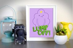 Adventure Time Lumpy Space Princess Purple Lump Off Instant Poster Cartoon Art by PrintWithLove