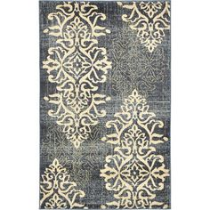 <strong>Unique Loom</strong> Damask Blue Area Rug